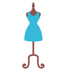 blue dress on mannequin isolated image vector image