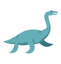 blue elasmosaurine dinosaur icon isolated vector image