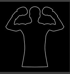 Boxer the white path icon vector