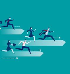 Business people race vector