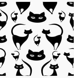 cat patterns-02 vector image