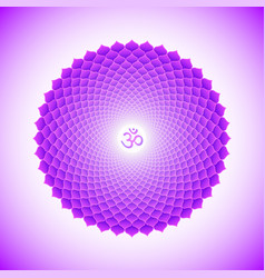 Chakra sahasrara symbol vector