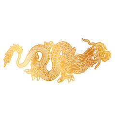 chinese golden dragon vector image