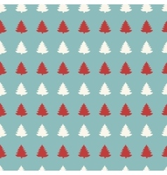 Christmas seamless tree doodles pattern vector image