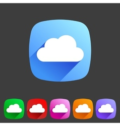 Cloud flat shape icon set collection vector
