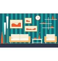 Color interior of cartoon minimalistic modern vector