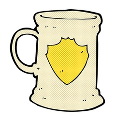 comic cartoon old tankard vector image