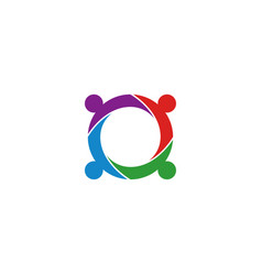 community circle logo icon template vector image