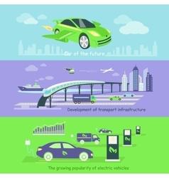 Concept development transport infrastructure vector