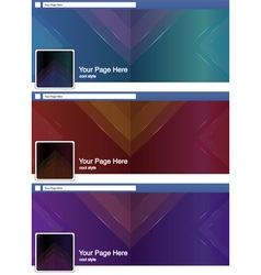 Cool triangle abstract face book page cover banner vector