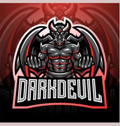 Dark devil esport mascot logo vector