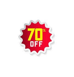 Discount 70 off template design vector