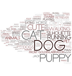 Dog word cloud concept vector