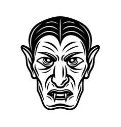 dracula vampire head black vector image
