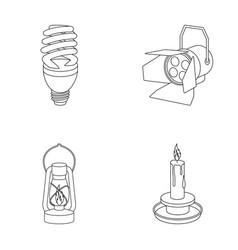 Economy lamp searchlight kerosene lamp candle vector