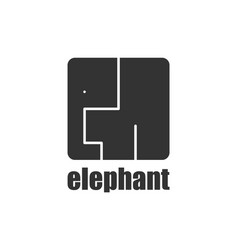 elephant logo modern style african animals wild vector image
