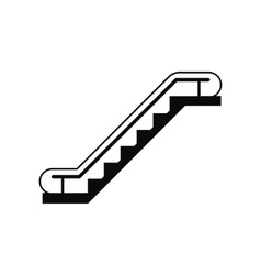 Escalator black simple icon vector image