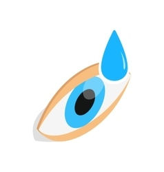 Eye drops for treatment icon isometric 3d style vector image