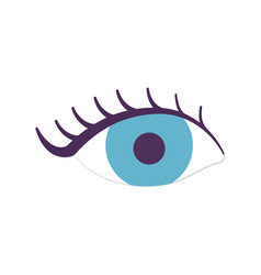 female eye eyelashes icon on white background vector image