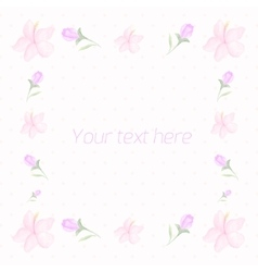 Floral frame for text watercolor vector image