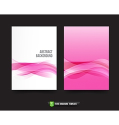 Flyer brochure background templated 013 ligth pink vector