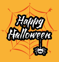 happy halloween stylized lettering vector image