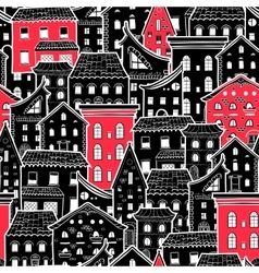 Houses new pattern 6 vector