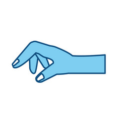 Human hand holding something vector