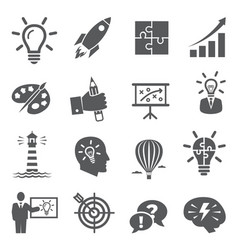 idea icons on white background vector image