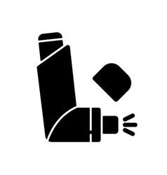 Inhaler black glyph icon vector