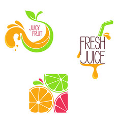 juice concept icons vector image