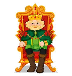 King sitting in the throne vector