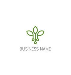 Leaf seed bio technology company logo vector