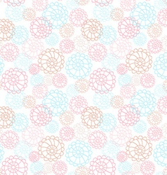 Light color seamless floral hand drawn pattern vector image