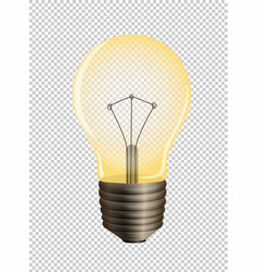 Lightbulb on transparent background vector