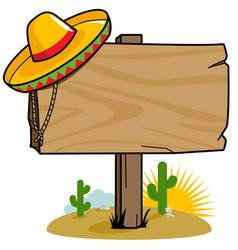 Mexican wooden signpost vector