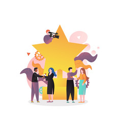 movie award ceremony concept for web banner vector image