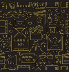 movie seamless pattern background vector image