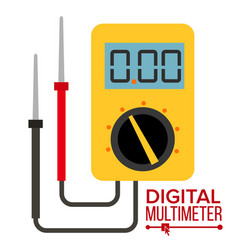 Multimeter digital gadget electrical vector
