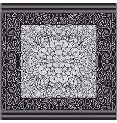 Pattern with ornament Geometric pattern vector image