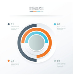 Pie chart infographics orange blue gray color vector