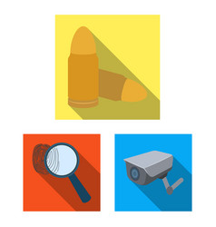 Prison and the criminalflat icons in set vector
