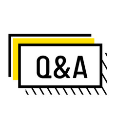 Q and a sign question and answer infographics vector