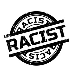 Racist rubber stamp vector