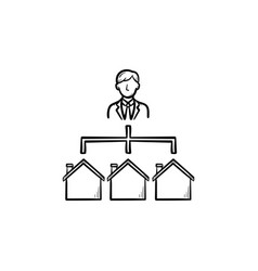 real estate broker hand drawn outline doodle icon vector image