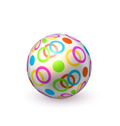 Realistic beach inflatable dotted ball vector