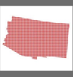 Red dot map of arizona vector