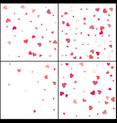 red hearts confetti celebration falling pink vector image