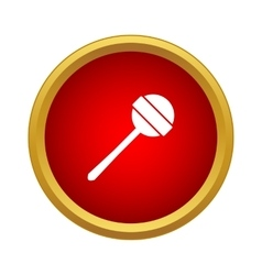Round lollipop icon in simple style vector image