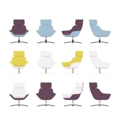 Set of rerto armchairs vector